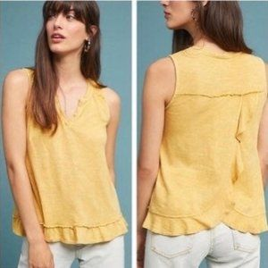 Maeve Poinsot Ruffle Tank Top NWT